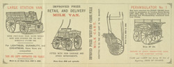 Advert for J Cumming, van & cart builder reverse